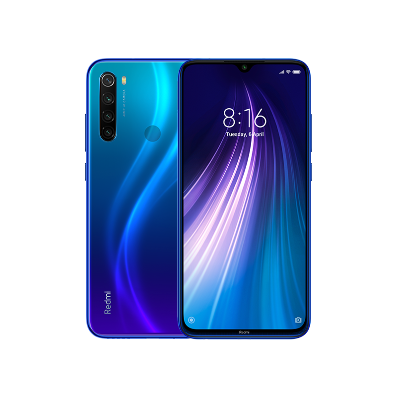 The distinctive 2.5D reflective glass back distinct gives Redmi Note 8 a bold finish.