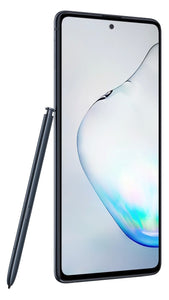 The Galaxy Note10 Lite is masterfully designed with a smooth metal frame that curves elegantly for ergonomic comfort.