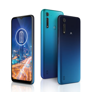 Experience ultimate power with Motorola moto G8 Power Lite's long-lasting battery, ultra-responsive performance, triple camera system and an ultra-wide Max Vision display