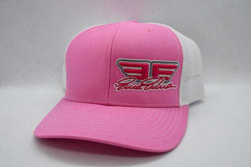 "Erica Enders ""EE"" Pink and White Snapback Hat"
