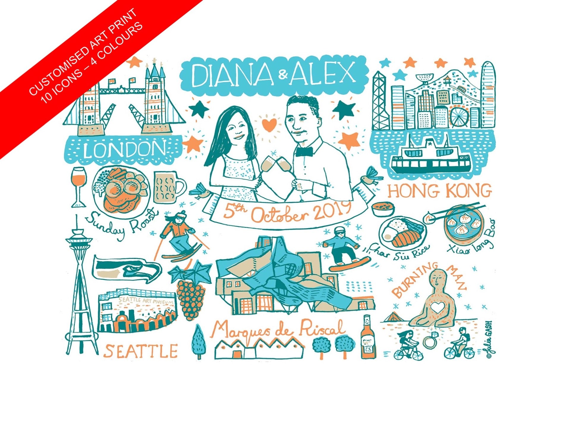 Commission Your Own Design and Customise a Travel Art Print