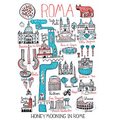 Rome Fathers Day Travel Art Print Gift by Julia Gash