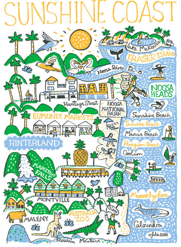 Sunshine Coast Australia illustration by Julia Gash