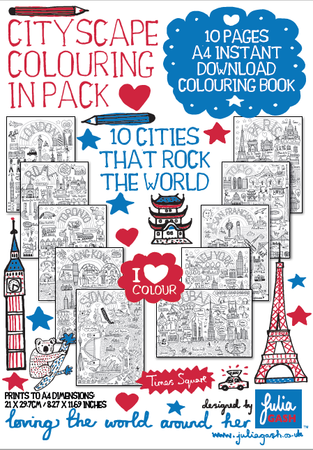 10 Cities That Rock The World - Colouring eBook - Julia Gash