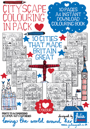 10 Cities That Made Britain Great - Colouring eBook - Julia Gash