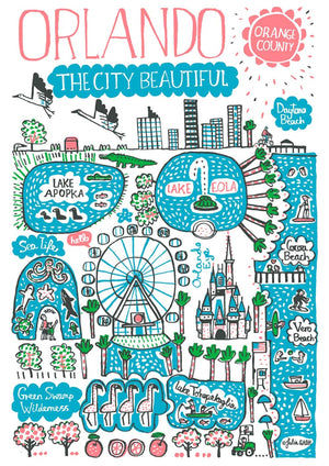 Orlando Art Print by British Travel Artist Julia Gash - Julia Gash