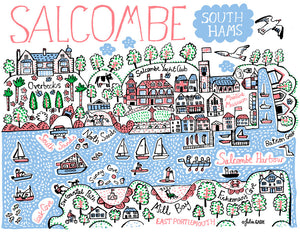 Salcombe Art Print - Julia Gash