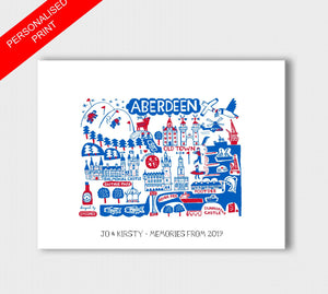 Aberdeen by Dasher Art Print - Julia Gash