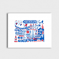 Aberdeen by Dasher Art Print by British Travel Artist Julia Gash - Julia Gash