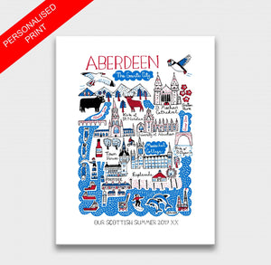 Aberdeen Art Print by British Travel Artist Julia Gash - Julia Gash