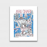 Abu Dhabi Art Print by British Travel Artist Julia Gash - Julia Gash
