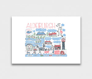 Aldeburgh Art Print by British Travel Artist Julia Gash - Julia Gash