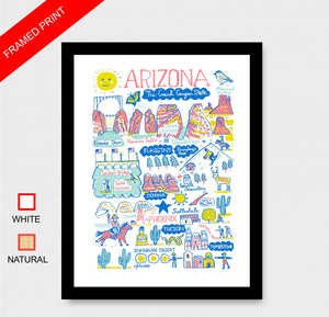 Arizona Art Print by British Travel Artist Julia Gash - Julia Gash