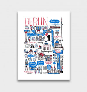 Berlin Art Print by British Travel Artist Julia Gash - Julia Gash