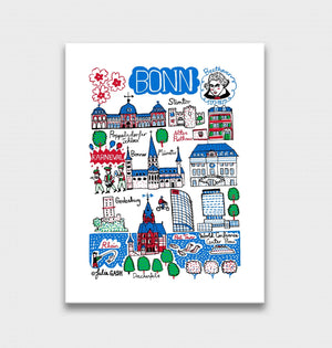 Bonn Art Print by British Travel Artist Julia Gash - Julia Gash