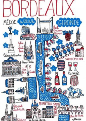 Bordeaux Art Print by British Travel Artist Julia Gash - Julia Gash