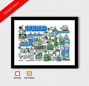 Boston Art Print by British Travel Artist Julia Gash - Julia Gash