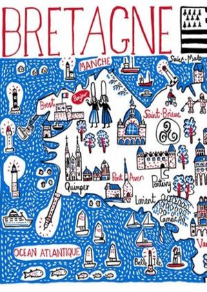 Bretagne Art Print by British Travel Artist Julia Gash - Julia Gash