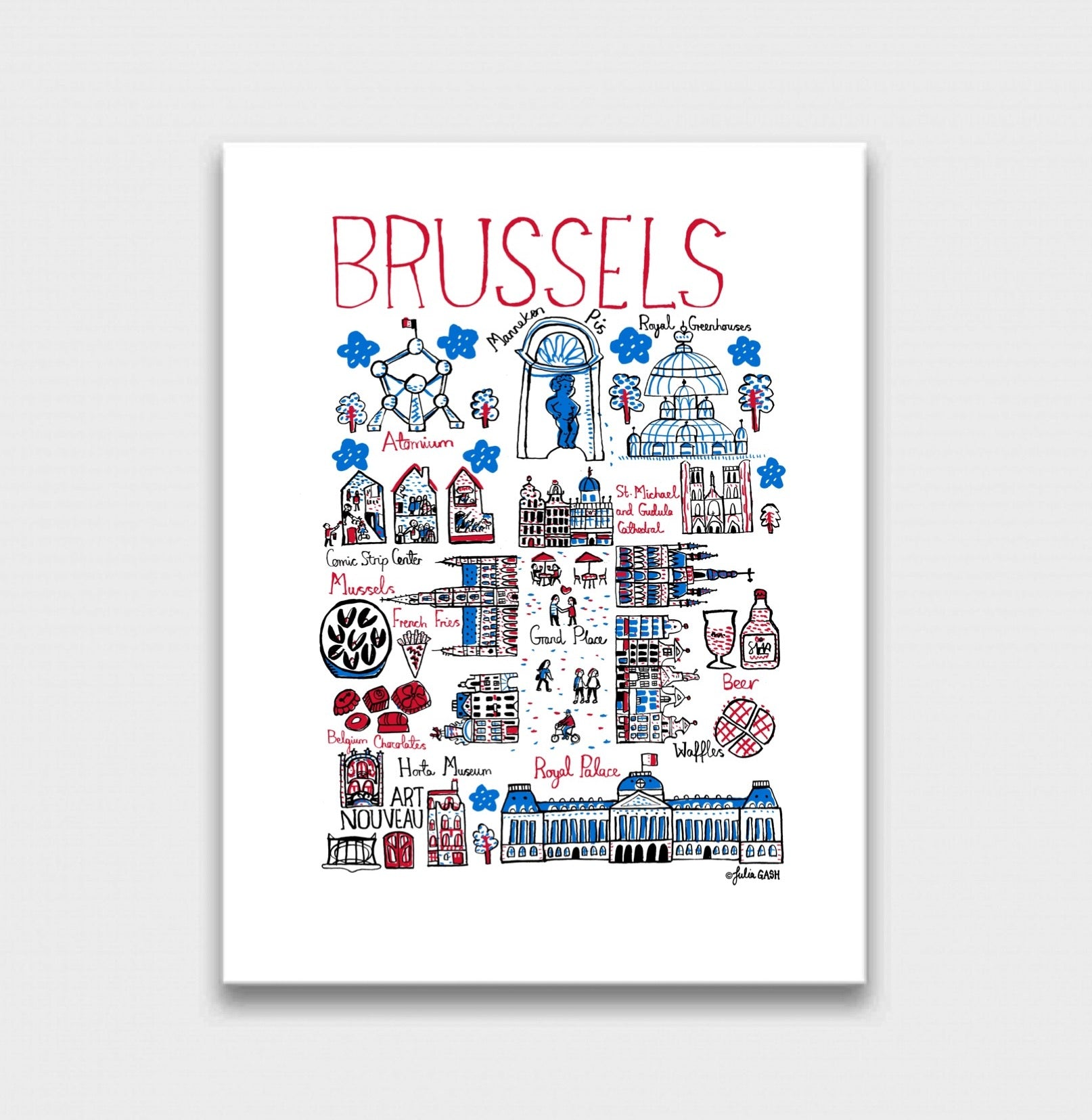 Brussels Art Print - Julia Gash