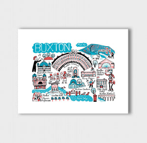 Buxton Art Print by British Travel Artist Julia Gash - Julia Gash