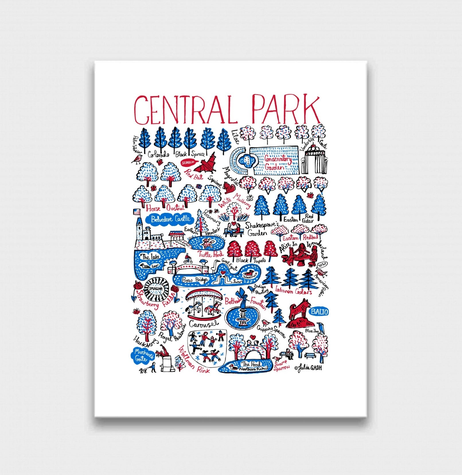 Central Park Art Print - Julia Gash