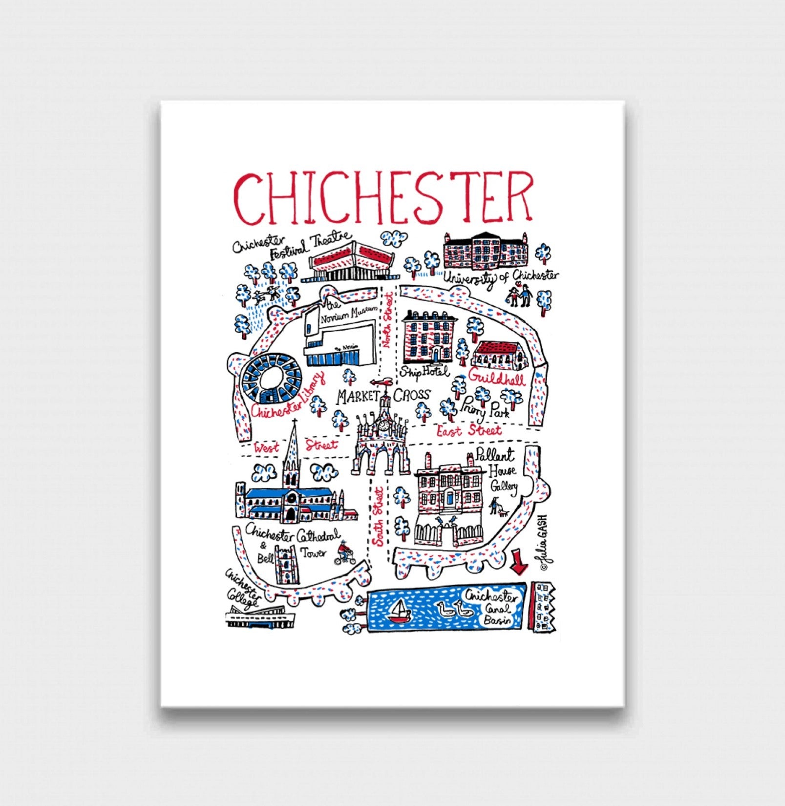Chichester Art Print - Julia Gash