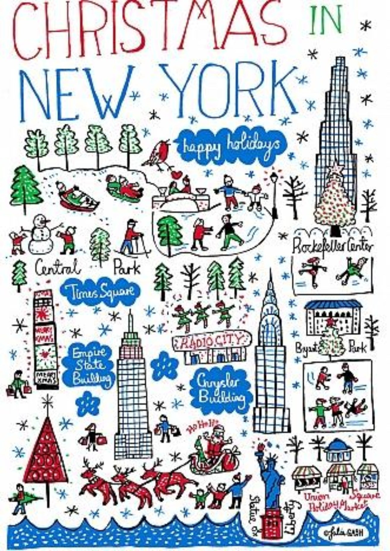 Christmas in New York Artwork