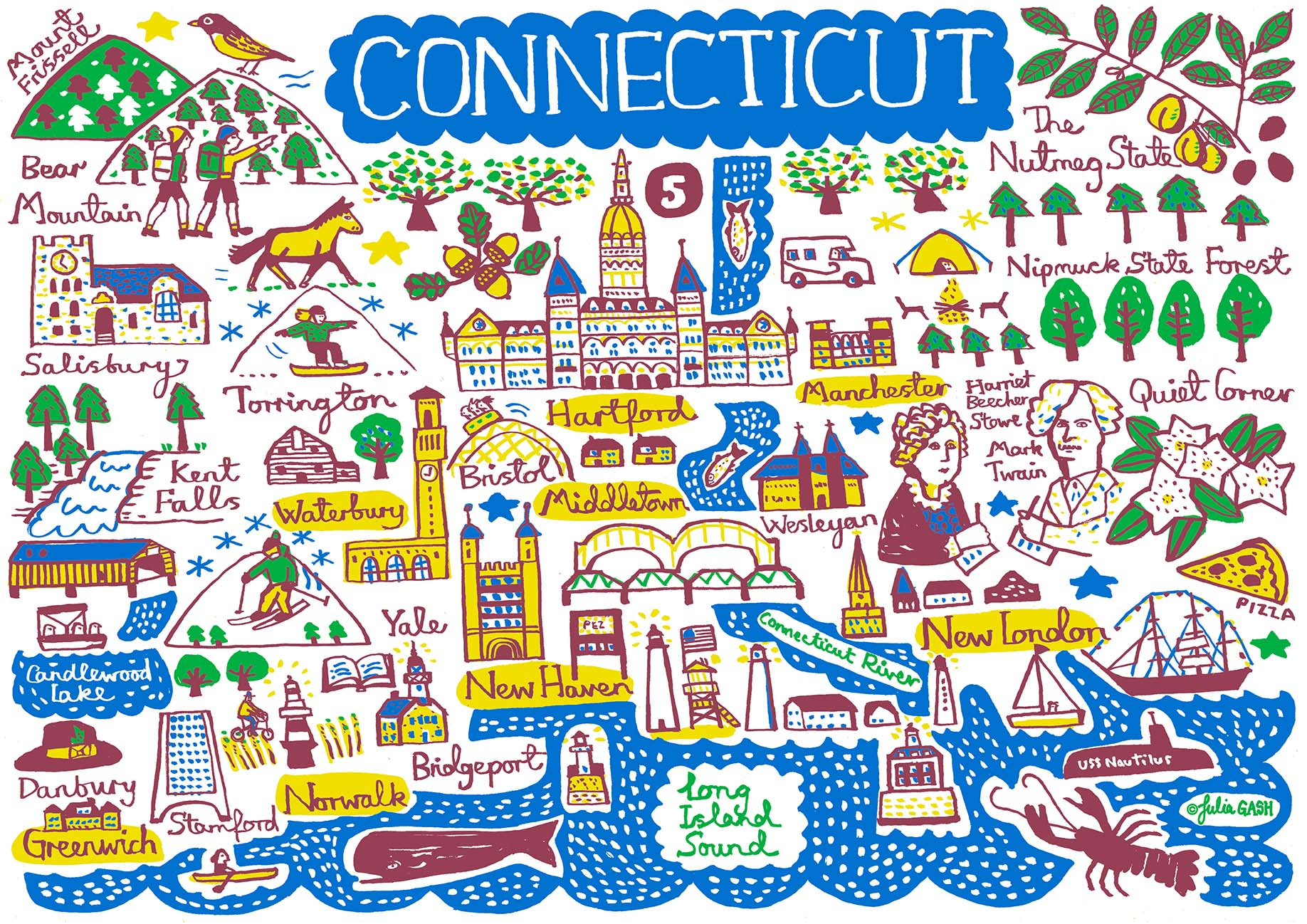 Connecticut Art Print - Julia Gash