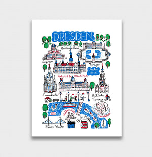 Dresden Art Print by British Travel Artist Julia Gash - Julia Gash