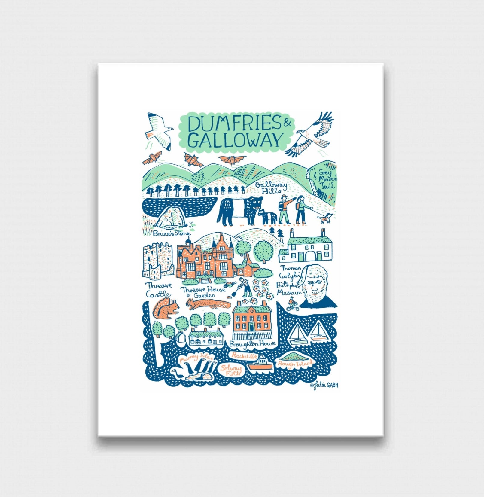 Dumfries and Galloway Art Print - Julia Gash