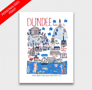 Dundee Art Print by British Travel Artist Julia Gash - Julia Gash