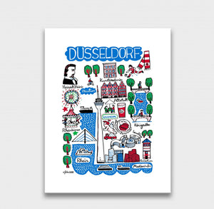Dusseldorf Art Print by British Travel Artist Julia Gash - Julia Gash