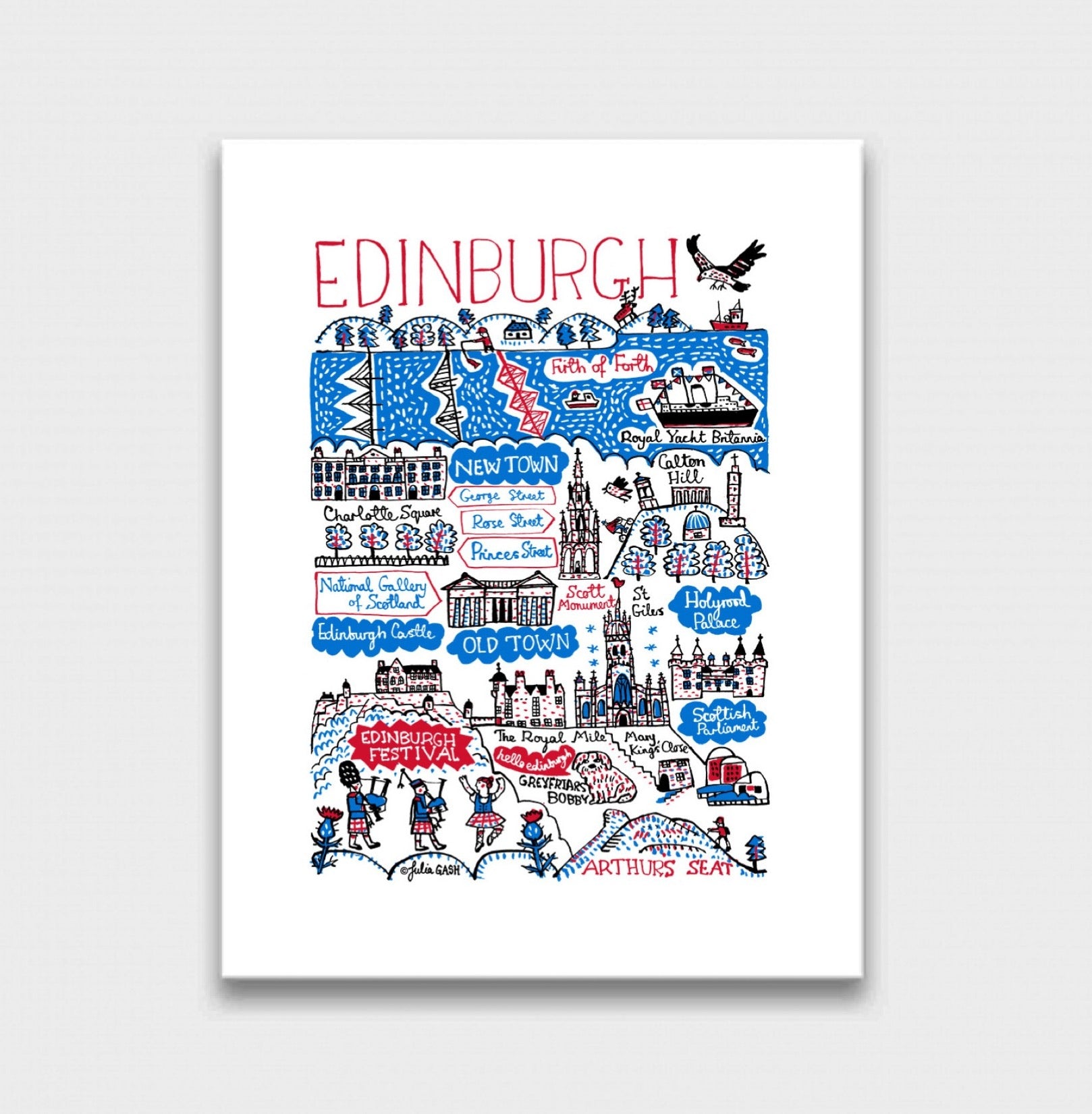 Edinburgh Art Print - Julia Gash
