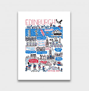 Edinburgh Art Print by British Travel Artist Julia Gash - Julia Gash