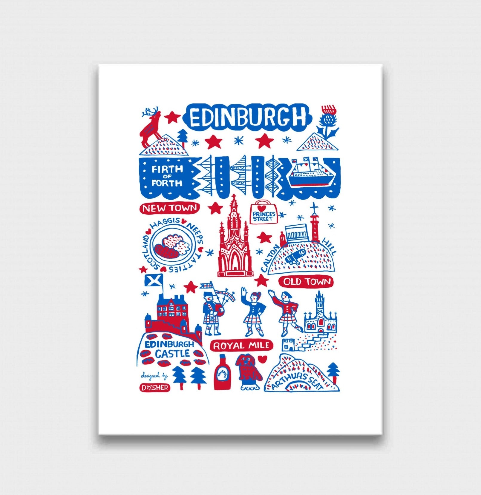 Edinburgh by Dasher Art Print - Julia Gash