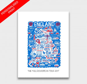 England by Dasher Art Print - Julia Gash