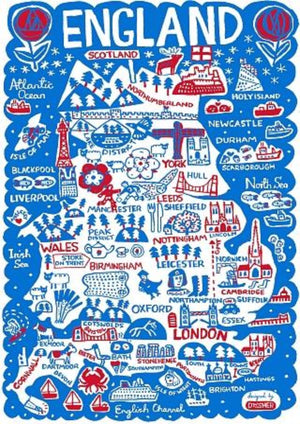 England by Dasher Art Print by British Travel Artist Julia Gash - Julia Gash
