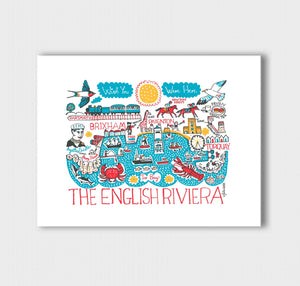 English Riviera Art Print - Julia Gash