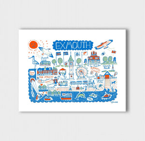 Exmouth Art Print by British Travel Artist Julia Gash - Julia Gash