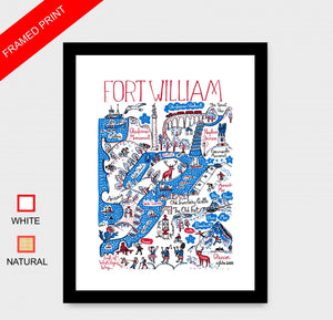 Fort William Art Print by British Travel Artist Julia Gash - Julia Gash