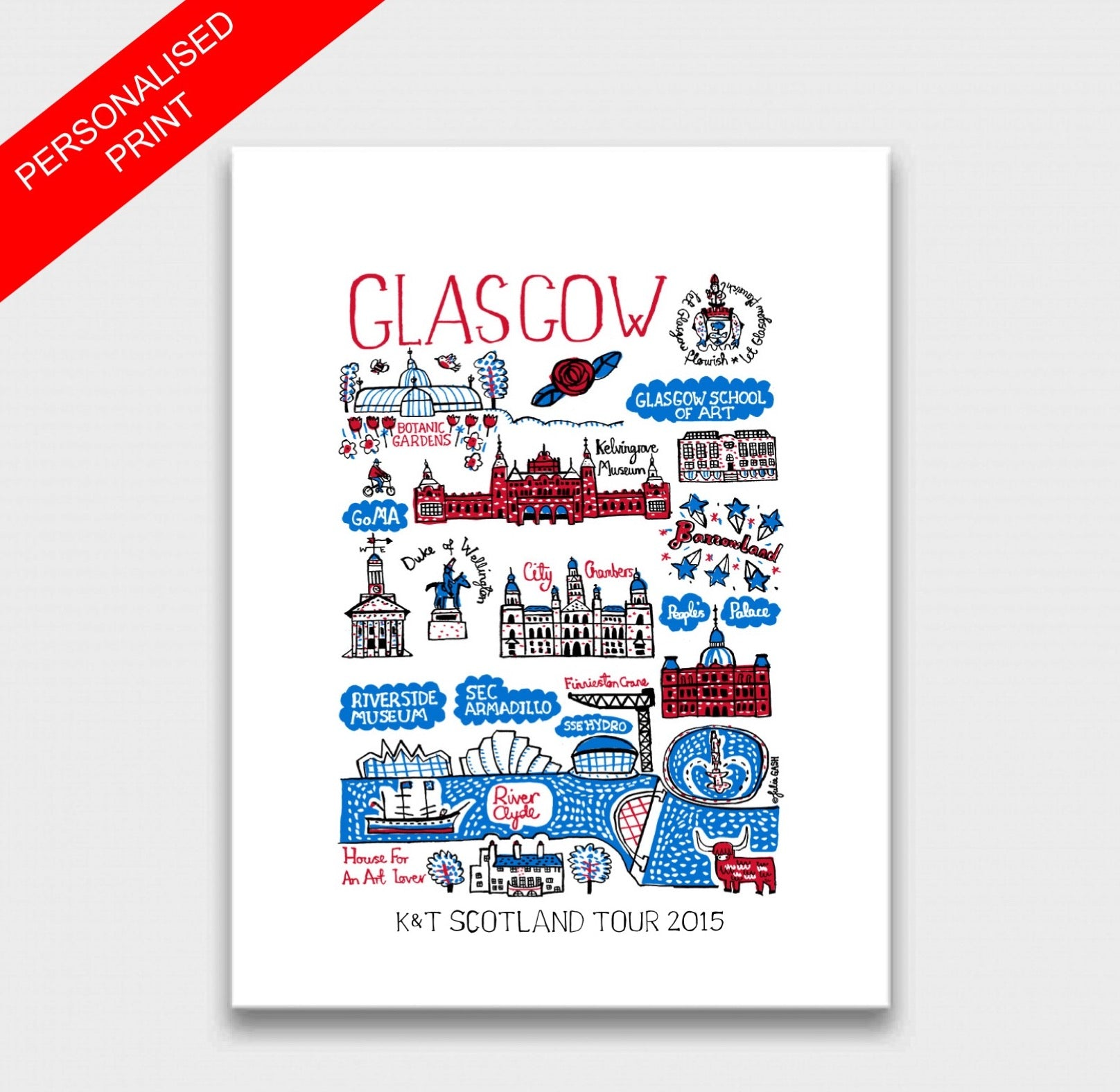 Glasgow Art Print - Julia Gash