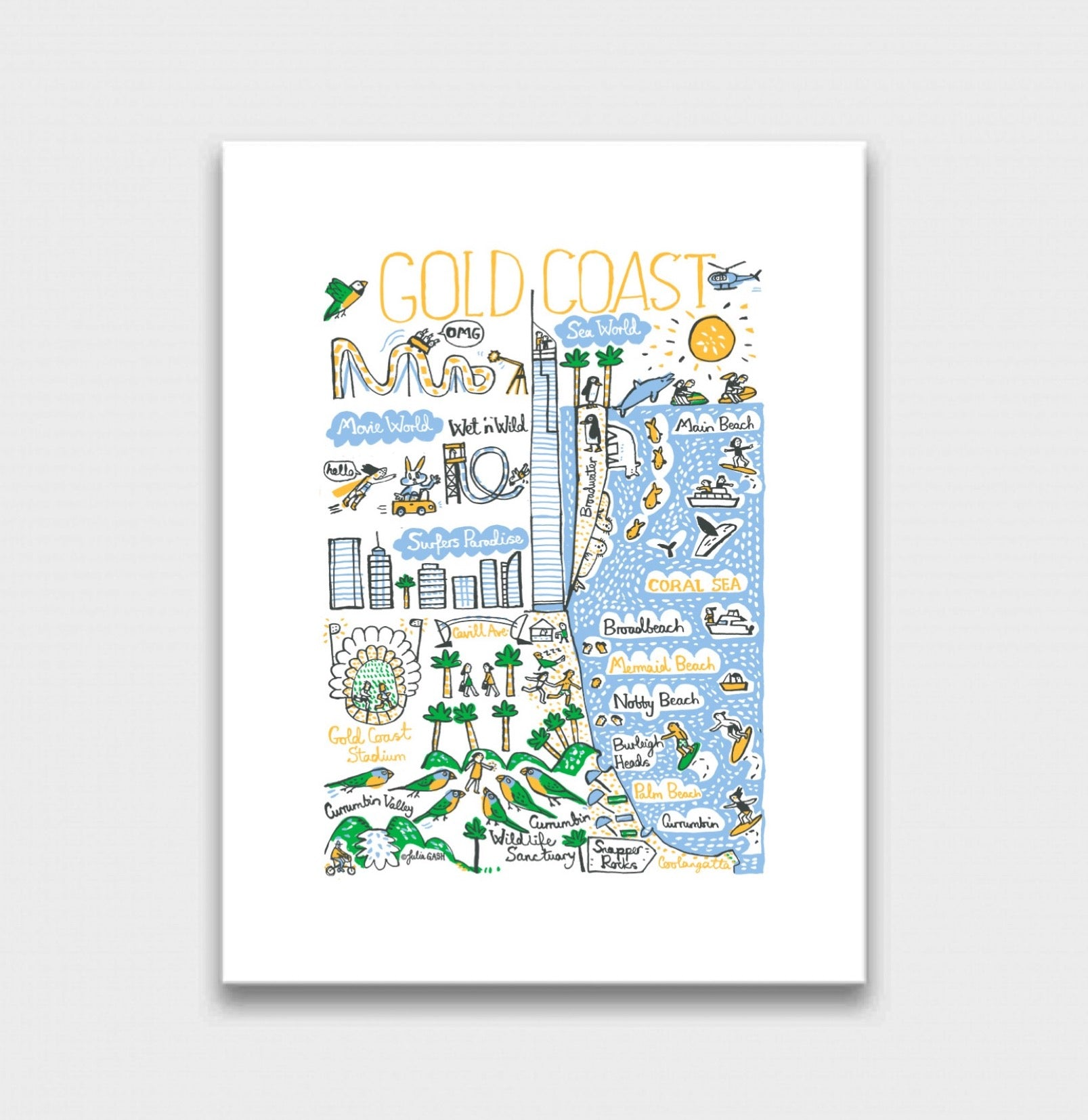 Gold Coast Art Print - Julia Gash