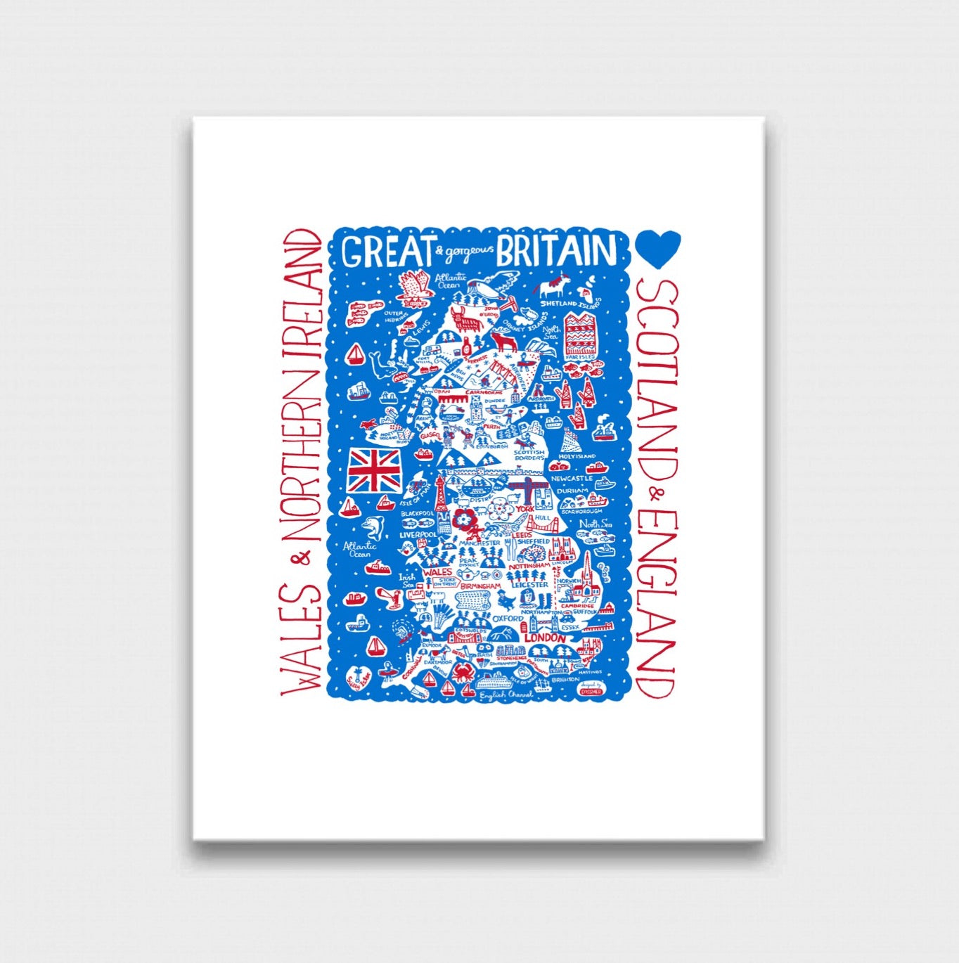 Great Britain by Dasher Art Print - Julia Gash