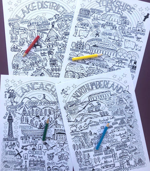 It's Great Up North - Colouring eBook - Julia Gash