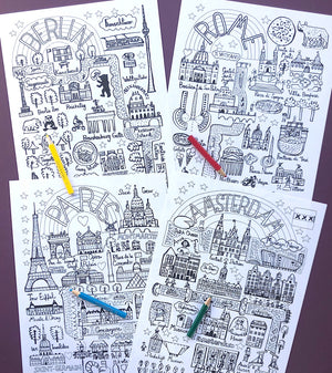 10 Cities That Rule The World - Colouring eBook - Julia Gash