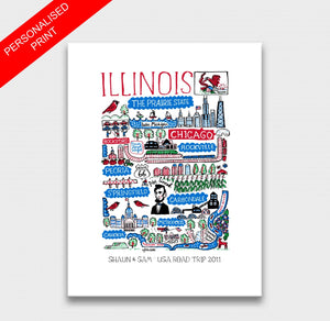 Illinois Art Print - Julia Gash