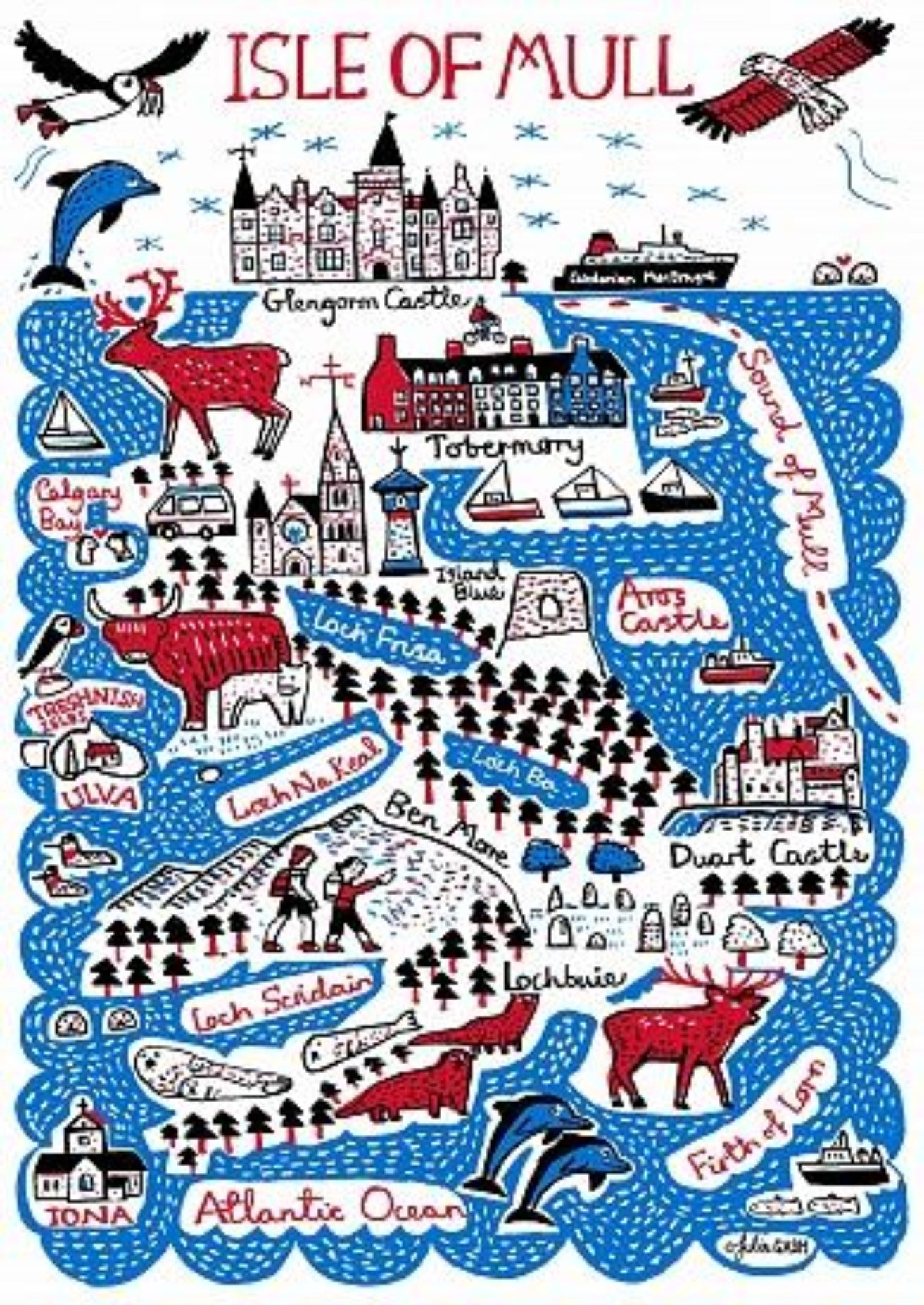 Isle of Mull Art Print by British Travel Artist Julia Gash - Julia Gash