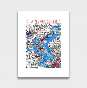 Lago Maggiore Art Print by British Travel Artist Julia Gash - Julia Gash
