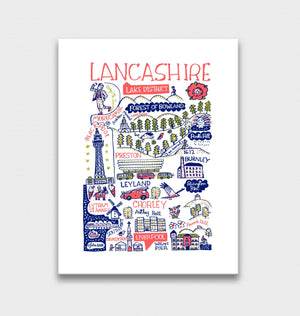 Lancashire Art Print by British Travel Artist Julia Gash - Julia Gash