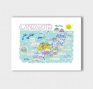 Lanzarote Art Print by British Travel Artist Julia Gash - Julia Gash